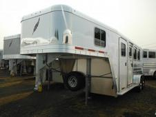 2015 Featherlite 8541 3 Horse Goose Neck- All Aluminum- w/ foldin...