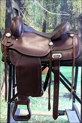 HILASON FLEX-TREE TRAIL PLEASURE WESTERN SADDLE