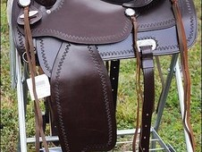 Hilason western flex tree trail pleasure horse riding saddle