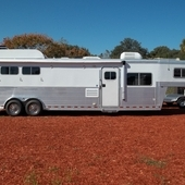 2002 Platinum 3 horse with 15' LQ