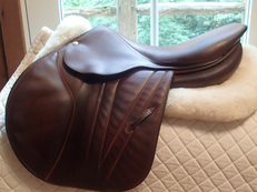 "Luxurious, gorgeous 17"" Butet Premium Full Calfskin Saddle 2015 P 2"