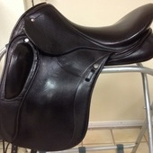 "Schleese Link Dressage Saddle, 18"" seat, MW tree"