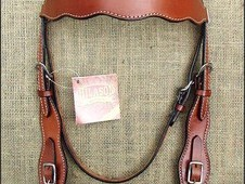 Hilason treeless western trail barrel racing leather saddle bridl...