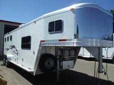 "2001 Exiss 3 Horse - 7'6"" SW LQ All Aluminum Horse Trailer"