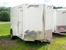 NEW 2016 Homesteader 6x12 V-Nose Patriot Cargo Trailer w/ Rear Ba...