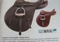 ENGLISH COMFORT SADDLE WITHOUT HORN