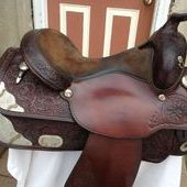 Circle Y 15 1/2-16in.Softee Silver Show Saddle
