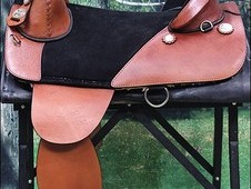 Hilason western leather treeless trail pleasure horse saddle