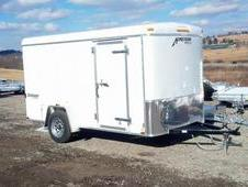 NEW 2015 Homesteader 6x12 Challenger Cargo Trailer w/ Barn Doors ...