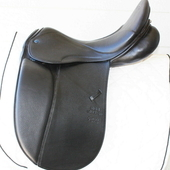 Stubben Genesis D Biomex Dressage Saddle Extra-wide 17.5""