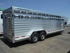 2016 Featherlite 8127 - 24' Stock Trailer - All Aluminum w/ ...