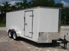 Lark 7 x 16 Tandem Axle Cargo w/ Rear Ramp & Side Door