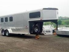 NEW 2014 Homesteader (3) Horse Slant Gooseneck Trailer