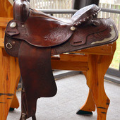 16 Inch Blue Ridge Western Saddle. See Video!