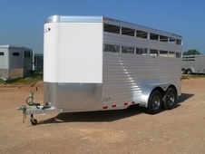 2017 CM STOCKER ALUMINUM LIVESTOCK TRAILER