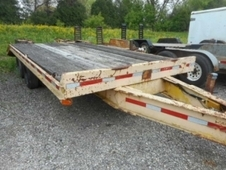 1978 TRAIL KING FLATBED EQUIPMENT TRAILER