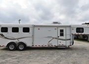 Used 2003 Kiefer Built 3 Horse Trailer with 9' Short Wall