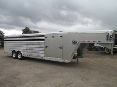 2016 28' Cimarron Lone Star Show Cattle Trailer