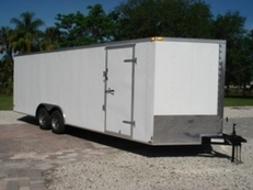 8.5X18 TANDEM AXLE ENCLOSED TRAILER W/RAMP DOOR