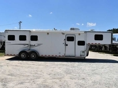 Used 2010 Kiefer Built Evolution 7309 3 Horse Trailer with 9' Short Wall