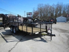 Big Tex 45SS Tandem Axle Utility Trailer with 2' Expanded Metal Sides