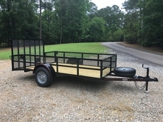 "Deluxe 6ft X 12ft Utility Trailer, 24"" Tall Mesh Sides, ""D"" Ring's, Beavertail!"