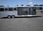 New 2019 SMC SL8411SFK 4 Horse Trailer with 11' Short Wall