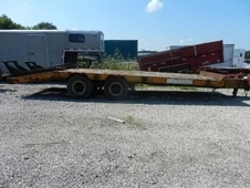 1989 EVENS FLATBED EQUIPMENT TRAILER