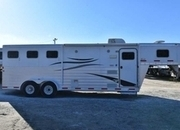 Used 2010 Exiss Sport ES308 3 Horse Trailer with 8' Short Wall