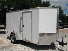 6x12 V-Nose Cargo Trailer  w/Ramp and Upgrades