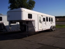 2007 Kiefer Built 4 Horse Eagle XLA Horse Trailer
