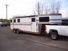 1998 Hawk 3 Horse Small LQ Horse Trailer