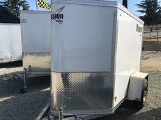 Mission Enclosed 4x6 Trailer w/ V-Nose