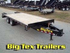 2017 10-Ton Pintle 8x25 Flatbed Equipment Trailer