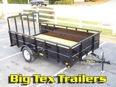 Big Tex Utility Trailers with Solid Metal Sides