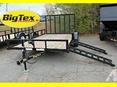 Big Tex ATV Trailer with Side Ramps 35SA-12BKRSX