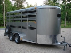 6ft X 16ft Deluxe Livestock & 4 Horse Trailer w/Mats, 7ft Tall and Awesome!