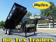 Big Tex Gooseneck Dump Trailers with 7K Axles , 7x14