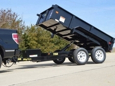 10' x 6' Tandem Axle, Single Ram Dump
