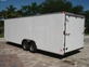 8.5x24 V-Nose Enclosed Trailer 5200# axles, 7' inside for sale