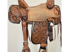"Used 15"" Truth Saddlery Team Roping Saddle"