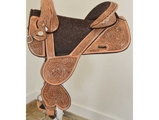 New! 14. 5 Circle Y Saddlery Jatzlau J2 Treeless Barrel Racing Sa...