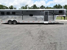 New 2019 Bison Laredo 8315SOBSLB 3 Horse Trailer with 15' Short Wall