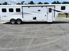 New 2019 Bison Trail Boss 7310 3 Horse Trailer with 10' Short Wall