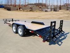 20' Heavy Duty Tandem Axle Equipment /KNEE RAMPS ~