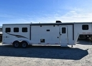New 2017 Bison Trail Boss 7310BD 3 Horse Trailer with 10' Short Wall
