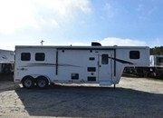 New 2018 Bison Trail Boss 7208 2 Horse Trailer with 8' Short Wall