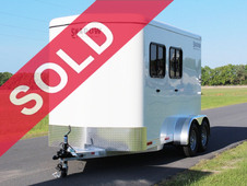 SOLD! 2016 Shadow Stablemate 2-Horse Bumper Pull with Fiber Glass...