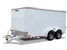 CM CARGO MATE 16' STEEL FLAT FRONT BUMPER PULL CARGO TRAILER