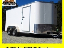 7-Wide Tandem Axle Cargo Trailers by Covered Wagon, Starting at $2415